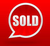 Sold badge concept 3d illustration Royalty Free Stock Photos