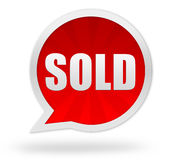Sold badge concept illustration Royalty Free Stock Photography