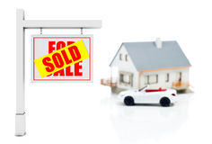 Sold banner Stock Image