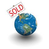 Sold Earth Royalty Free Stock Photos