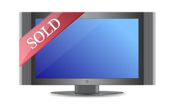 Sold flat screen tv or monitor Royalty Free Stock Images