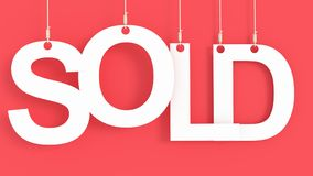 Sold hanging letters Royalty Free Stock Images