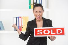 Sold! Royalty Free Stock Photo
