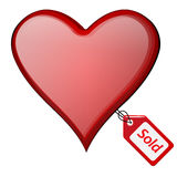 Sold heart Royalty Free Stock Photos