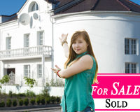 Sold Home and Beautiful New House. Stock Photography