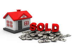 Sold Home concept Stock Photography