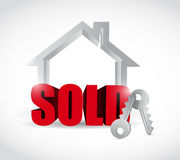 Sold home concept illustration design Stock Photography
