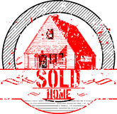 Sold Home rubber stamp Royalty Free Stock Photos