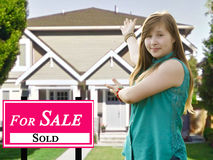 Sold Home For Sale Real Estate Sign Stock Photography