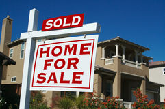 Sold Home For Sale Sign Royalty Free Stock Photography
