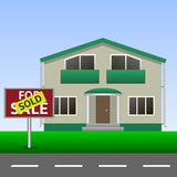 Sold Home Sign Royalty Free Stock Photos
