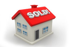 Sold Home Sign Royalty Free Stock Images