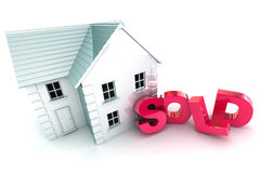 Sold House Royalty Free Stock Photo