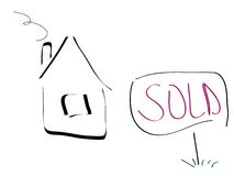 Sold house Royalty Free Stock Image