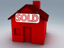Sold house 3d Royalty Free Stock Images