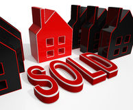 Sold House Displays Sale Of Real Estate Stock Images