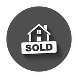 Sold house. Royalty Free Stock Images