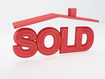 Sold house Stock Image