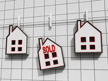 Sold House Meaning Sale Of Real Estate Houses Royalty Free Stock Photos