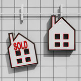 Sold House Means Sale Of Real Estate Stock Images