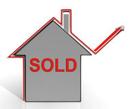 Sold House Shows Sale And Purchase Of Property Royalty Free Stock Photos