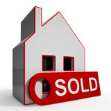 Sold House Shows Successful Offer Or Auction Royalty Free Stock Photos