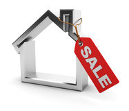 Sold house symbol Royalty Free Stock Images