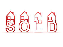 Sold houses Royalty Free Stock Photos