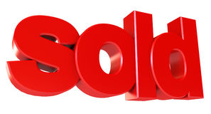 Sold icon Stock Photos