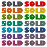 Sold icons set. Vector icon Royalty Free Stock Images