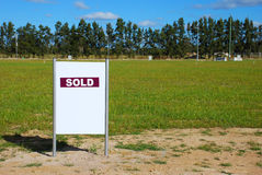 Sold Land. Vacant Land that has Sold stock photo