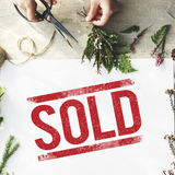 Sold Notice Stamp Sign Concept Royalty Free Stock Images