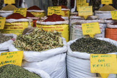 Sold in open market, spices, Turkey Royalty Free Stock Images