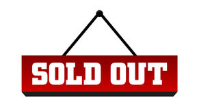 Sold out. A red sold out sign vector illustration