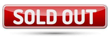 SOLD OUT - Abstract beautiful button with text. Royalty Free Stock Images