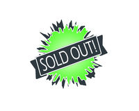 Sold out badge Royalty Free Stock Photography