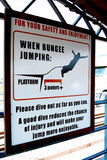 Sold out on the bridge over the Zambezi about the rules of the jump with bungee Royalty Free Stock Photography