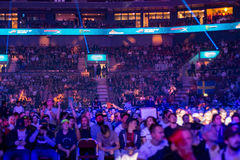 The Crowd at the event. An almost sold out Malmö Arena Stock Images