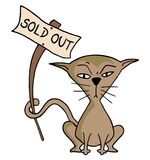 Sold out message Royalty Free Stock Images
