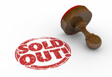 Sold Out Product Sellout Inventory Gone Stamp. 3d Illustration Royalty Free Stock Photo