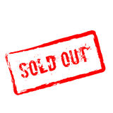 Sold Out red rubber stamp isolated on white. Royalty Free Stock Photo