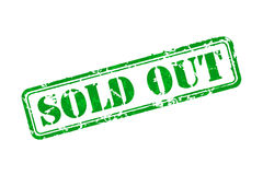 Sold out rubber stamp Royalty Free Stock Photos