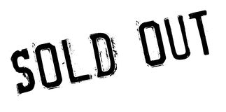 Sold out rubber stamp Stock Image