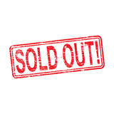 Sold Out Rubber Stamp Stock Images