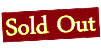 Sold out. Rubber stamp with text sold out inside,  illustration Stock Images