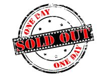 Sold out. Rubber stamp with text sold out inside,  illustration Royalty Free Stock Photography