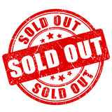 Sold out rubber stamp Royalty Free Stock Image