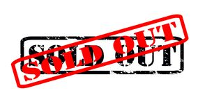 Sold out. Rubber stamps with text sold out inside,  illustration Royalty Free Stock Image