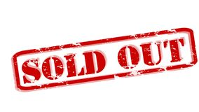 Sold out. Rubber stamps with text sold out inside,  illustration Royalty Free Stock Photos