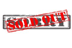 Sold out. Rubber stamps with text sold out inside,  illustration Royalty Free Stock Photography